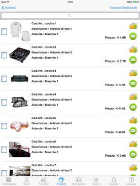 Copie Commissioni per iPad